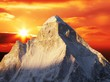 canvas print picture Sunset in Himalayan mountain