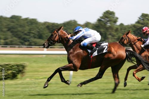 La pose en embrasure Equitation course de chevaux - horse racing