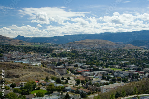 View of Vernon, BC Canvas-taulu