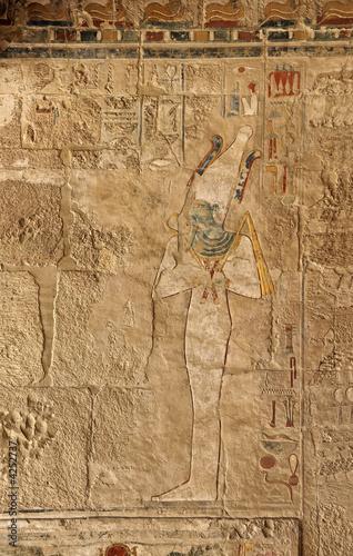 Foto op Plexiglas Artistiek mon. ancient fresco with pharaoh
