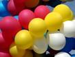 Varicoloured festival balloons