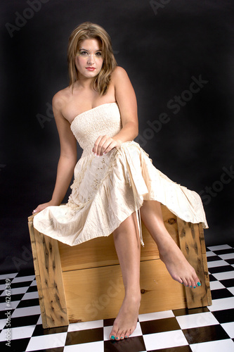 Fotografie, Tablou Barefoot lady