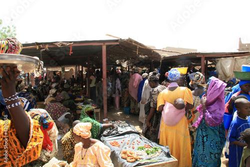 Staande foto Afrika djenné ,le marche des femmes