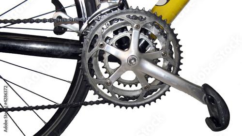 Fotografia, Obraz  Pédalier de vélo de route