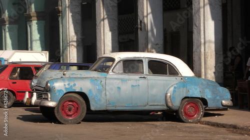 Türaufkleber Autos aus Kuba Old car, Havana - Cuba