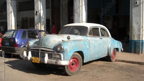 Deurstickers Cubaanse oldtimers Old Car - Havana, Cuba
