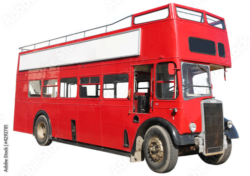 Canvas Print Old fashioned London red double-decker bus