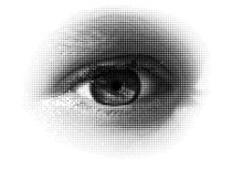 Halftone Eye / Vector . A Vector Halftone, Based On My Photo.