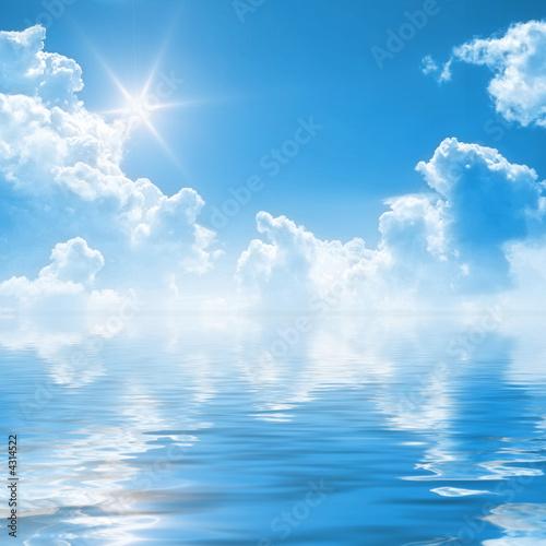 Foto-Leinwand - sunny sky background