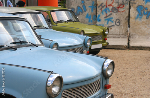 East German cars and the Berlin Wall