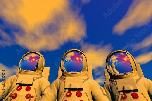 Stampa su Tela 3D render of astronaut