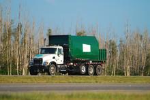 Industrial Truck Hauling Away ...
