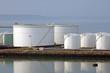 canvas print picture - Oil storage tanks