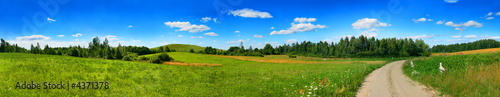 Fotobehang Landschap panorama