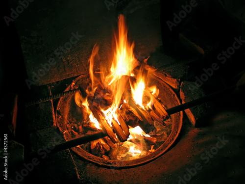 Fotografie, Tablou night fire
