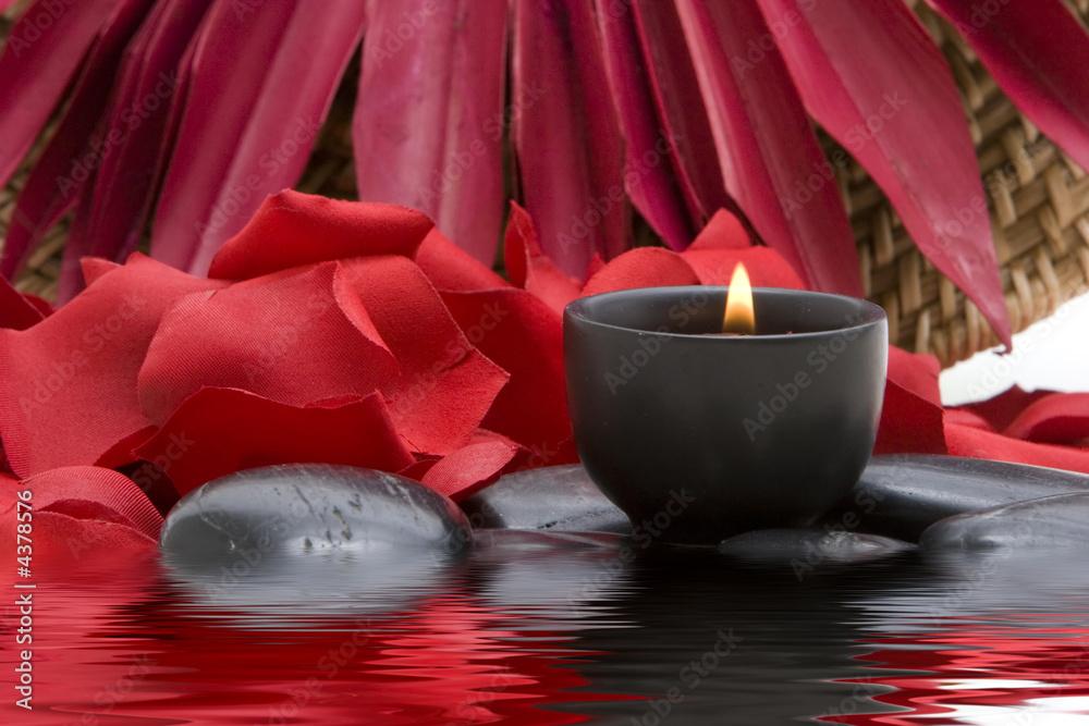 Doppelrollo mit Motiv - Spa candle