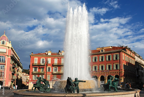 Fotobehang Volle maan France, Nice: Place Massena