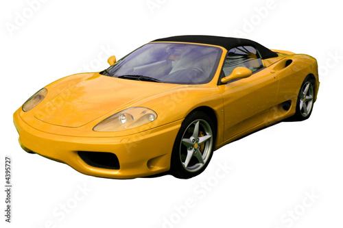 Foto-Doppelrollo - yellow convertible supercar (von Christopher Nolan)