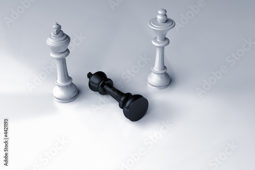Fotografie, Obraz  Schachspiel