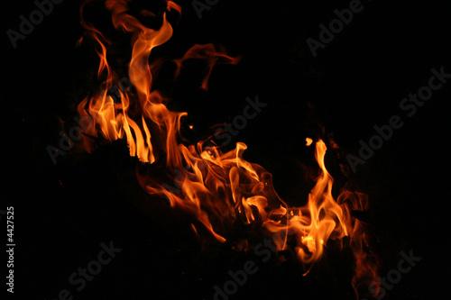 La pose en embrasure Feu, Flamme Fuoco e fiamme di Notte