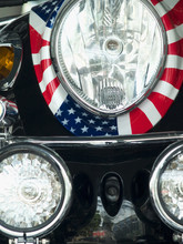 Scooter With American Flag