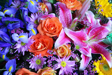 Vibrant Bouquet Of Flowers