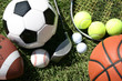 canvas print picture - Sports Equipment