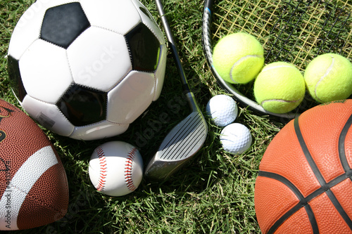 Fotografia, Obraz  Sports Equipment