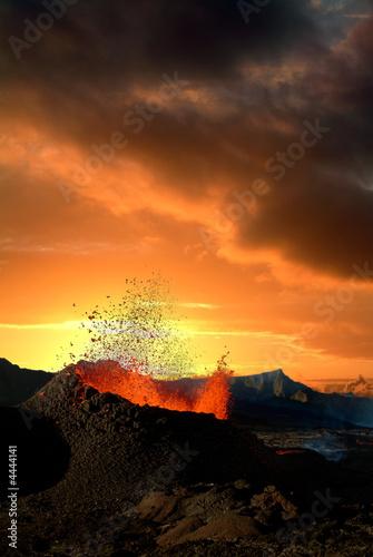 Staande foto Vulkaan éruption volcanique