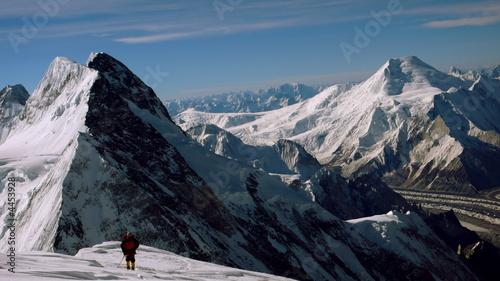 Fototapeta on 8000 meters on K2 obraz