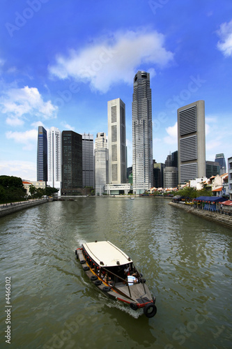 Photo  Singapore River and Boat