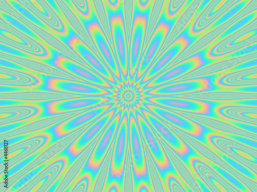 Poster Psychedelique psychedelic dazzle petal