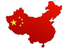 Carte De Chine (Drapeau)