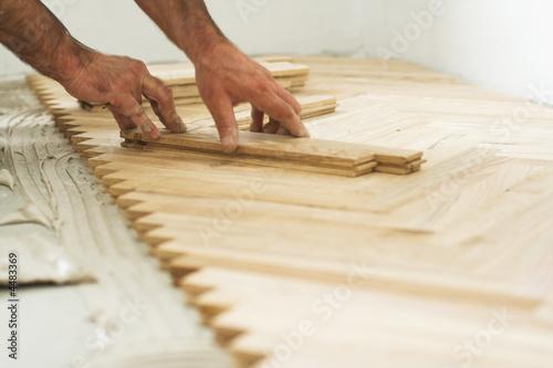 Obraz parquet and carpenter concept - fototapety do salonu
