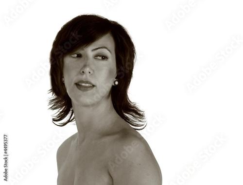 Fotomural Dark haired woman