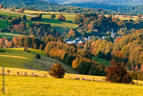 Photo Stands Melon beautiful autumn landscape