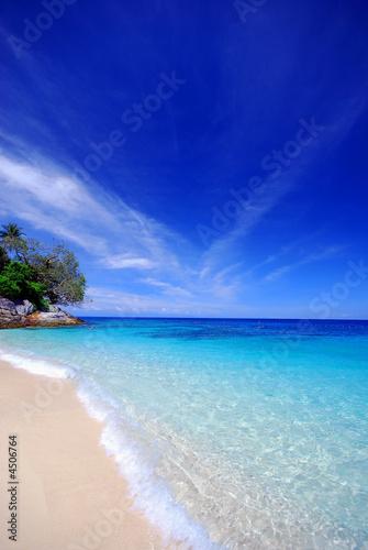 Foto-Schiebegardine Komplettsystem - Beach paradise (von Ronen)