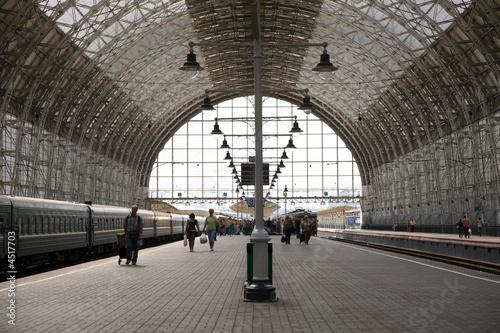 Foto auf AluDibond Bahnhof railroad platform
