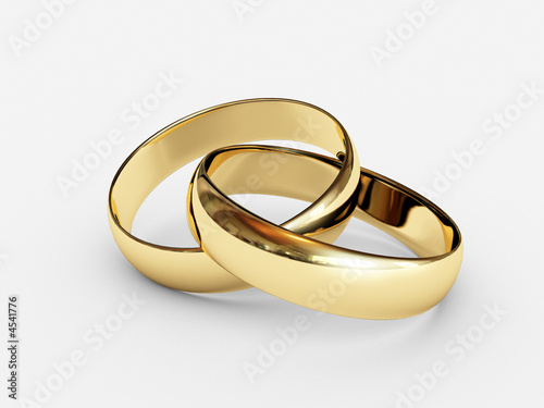 Connected wedding rings #4541776