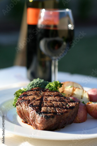 Foto  Steak-Abendessen