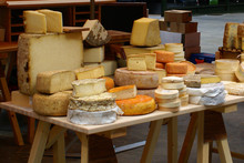 Market Display Of Cheese