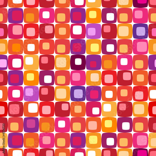 Motiv-Fußmatte - Retro colorful square pattern (von Mike McDonald)