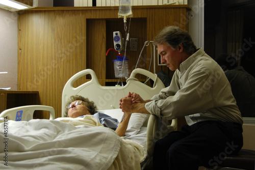 Fotografie, Obraz  Praying in Hospital