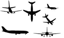 Civil Airplane Silhouettes