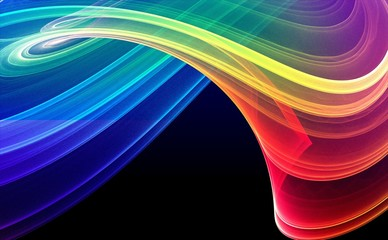 Fototapeta Colorful 3D rendered fractal design (abstract background)