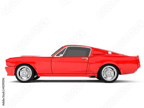 Fotografia  Red Classical Sports Car