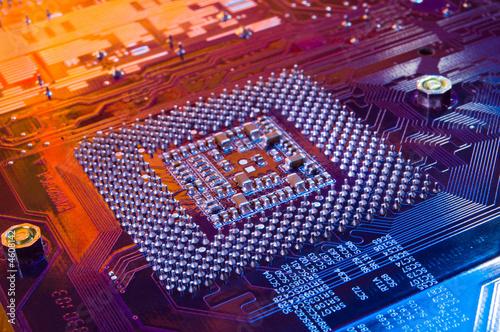 Computer microchip. Processor. Canvas-taulu
