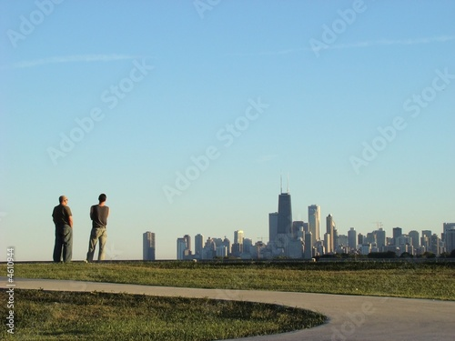 City view from afar Canvas Print