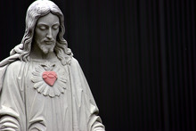 Jesus With A Red Heart, Selective Color