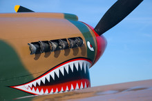 Nose Of A Flying Tiger Fighter...
